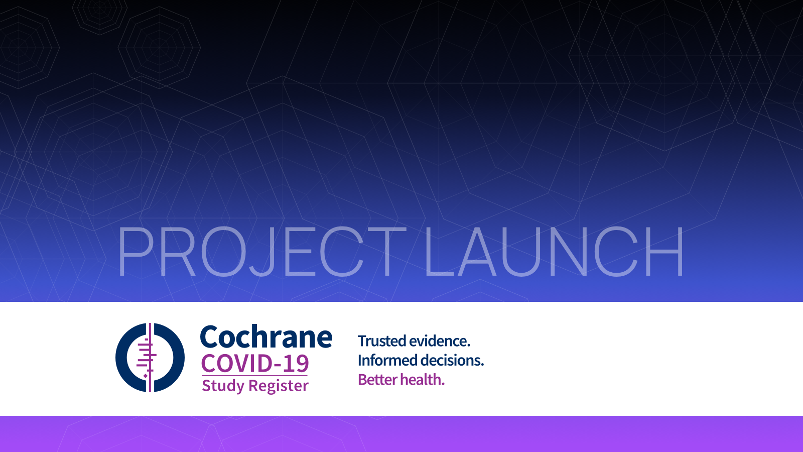 Launching the Cochrane Covid-19 Study Register